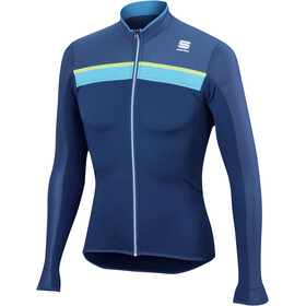 Sportful Pista Long Sleeve Jersey Men twilight blue/electric blue/yello fluo
